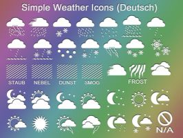 Simple Weather Icons by LavAna