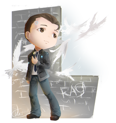 [Detroit: Become human] Connor (commissoin) by ProtoRC