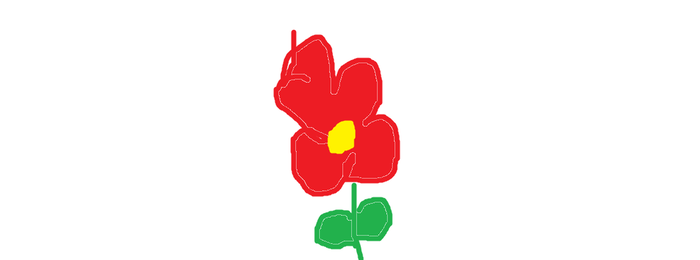 My Red Flower Drawing! by hubworld23