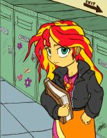 Sunset Shimmer Color collab  with F4celessart by ArtPonyMDP