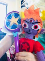 Tom Lucitor Plushie holding Star's wand by Blaria95