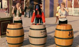 Apple Bobbing Prank by Edheldil3D