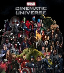 Marvel Cinematic Universe Character Poster by GianlucaSorrentino