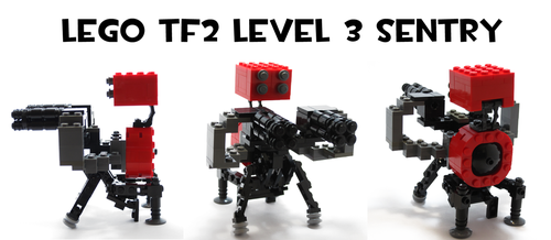 Lego TF2 Level 3 Sentry by HybridAir