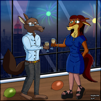 Happy New Year 2018! by WolleWolf95