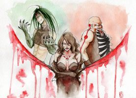 Envy, Lust, gluttony by AngerStark