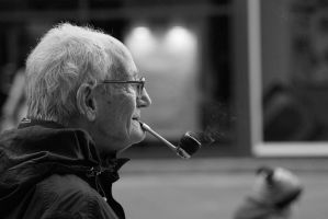 a man smoking his pipe by MICHAELHARRISON1990
