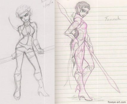 Fennek sketches by Foxeye