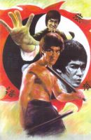 Bruce Lee olor Pastel 2 by monkeydawang