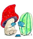 Mushroom and Watermelon playing cards by lunavalse