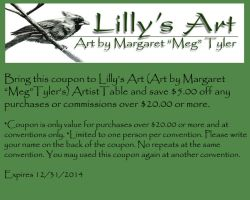 Lilly's Art Coupon 2014 by lilly-peacecraft