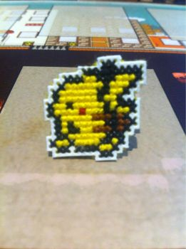 Pikachu cross stitch pin by fangy89