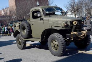 St. Patrick's Day Parade, Army Jeep by Miss-Tbones