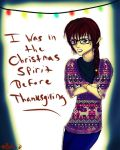 Christmas Hipster by Checker-Bee