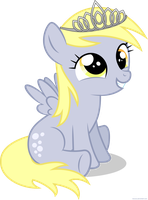 Little Derpy with tiara - PNG by Larsurus