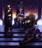 At the Throne Room (Commission) by KaRolding