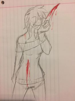 Goretober, Day 15 - Knife/Stabbing Wounds by FlickeringFilms