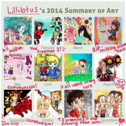 2014 Summary of Art by lillilotus