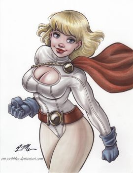 Power Girl by em-scribbles