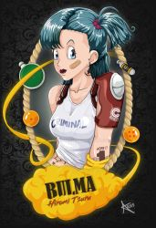 Fanart PIN-UP Criminal Bulma _Dragon Ball by CapsuleCom