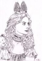 Anne Hathaway as The White Queen by emalterre