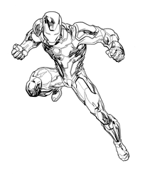 Tom Raney Iron Man Inks by JosephLSilver