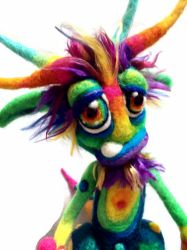 Rainbow Zotz Goblin by Tanglewood-Thicket