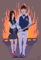 Baseball Kids (Train to Busan) by RadissonClaire