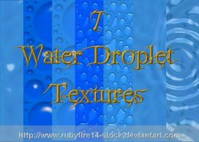 Water Droplet Textures by Rubyfire14-Stock