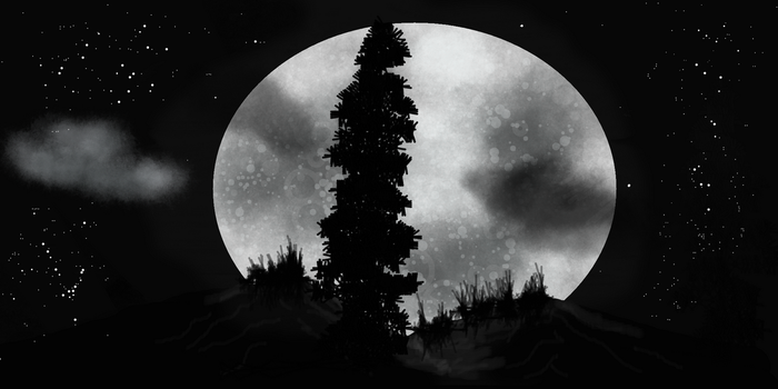 Night of the full moon by Dgastin
