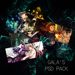 [PSD] Gala's FIRST PSD Pack! by GalaksiiDA
