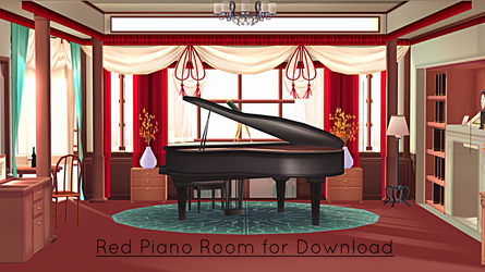 Red Piano Room Stage for MMD Download by xXFrenchToastXx
