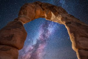 Arches National Park, Delicate Arch and Milky Way by alierturk