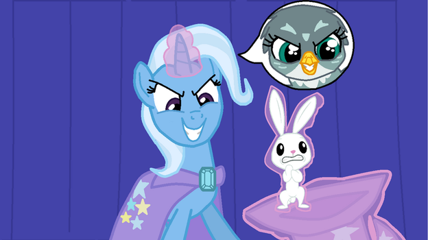 MLP authority swap #6 Trixie and Gabby by TheWalrusclown