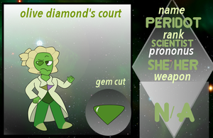(OLD) OC Olive Diamond Court - Peridot App by netflixandsapphire