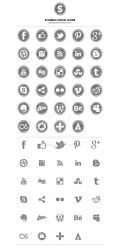 58 Scribble Social Media Icons by An1ken