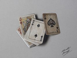 Playing Cards DRAWING by Marcello Barenghi by marcellobarenghi