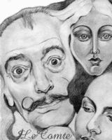 Drawing of Dali by jantheempress