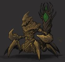 Crixalis, the Sand King by Halycon450