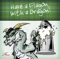 Have a Flagon with a Dragon.. by elasticdragon