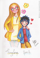 Honey Lemon and Hiro by HananiArt