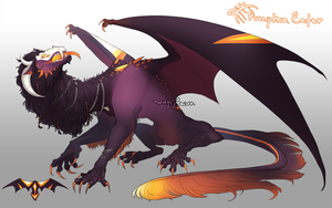 Halloween L'ragon Adoptable 05 [Closed] by WintryFawn