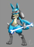 Lucario Painting by SonicX908