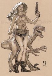 Hannah Dundee and Pet by StephaneRoux