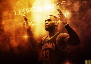 Lebron James by GfxUncle