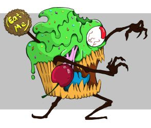 Request: A Very Zombie Cupcake by EvilSaintGood
