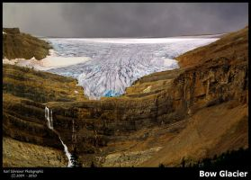 Bow Glacier by KSPhotographic