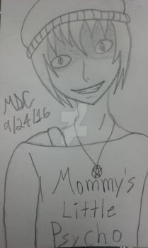 Mommy's Little Psycho - Sketch by Demonflames