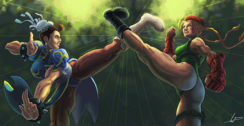 Chun LI VS Cammy by FabianLeonardo
