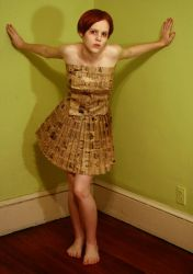 paper bag dress 1 by AttempteStock